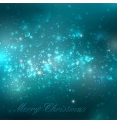 Merry Christmas shiny blue turquoise holiday vector image