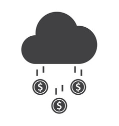 Money rain icon vector