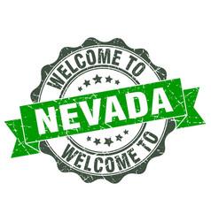 Nevada round ribbon seal vector