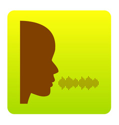 people speaking or singing sign brown vector image vector image