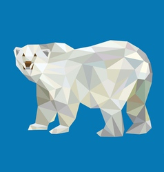 Polar bear triangle low polygon style vector image vector image