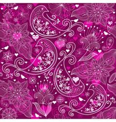 Seamless vinous valentine pattern vector image
