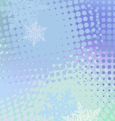 Winter horizontal banner snowflakes vector image vector image