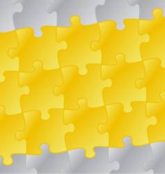 yellow puzzle background vector image