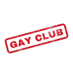 Gay club text rubber stamp vector