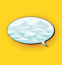 polygonal comics bubble balloon vector image