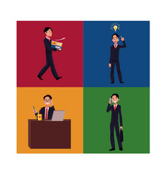 businessman manager working having idea vector image