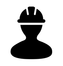 Construction worker icon person profile avatar vector