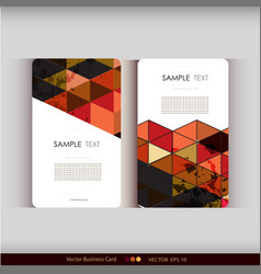 Abstract geometric business card set vector