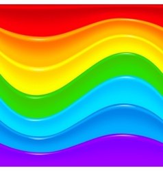 Bright rainbow plastic waves background vector