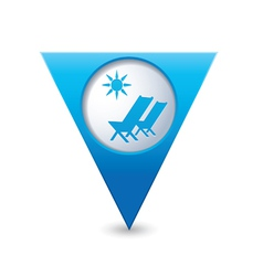Baech chair symbol map pointer blue vector
