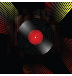 Vinyl record grunge composition vector