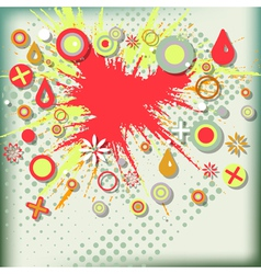 Abstract grunge background with explosion paint vector