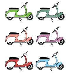Vintage scooter ii on white background vector