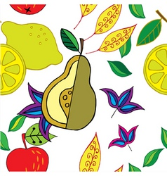 spring fruit pattern vector image