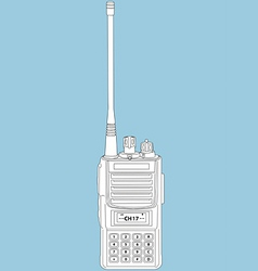 walkie talkie vector image