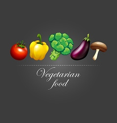 Fresh vegetables and sign vector
