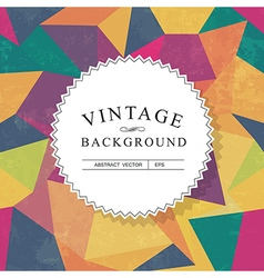 Vintage lettering template with aged background vector