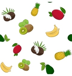 Seamless pattern of fruits vector