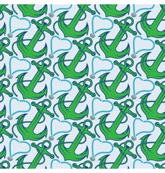 Seamless pattern for marine theme with anchorrope vector