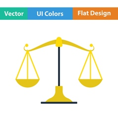 Flat design icon of scale vector