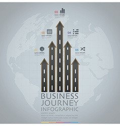 Business journey with global road and street arrow vector