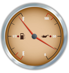Retro fuel and oil gauge icon vector