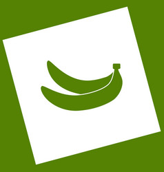 Banana simple sign white icon obtained as vector