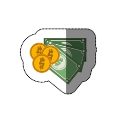 Billets and coins vector image