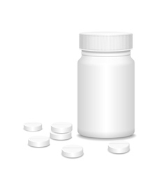 Blank medicine bottle with pills vector