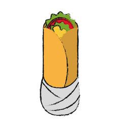 burritos mexican food vector image
