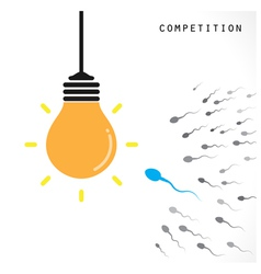 Creative light bulb idea concept banner background vector