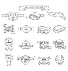 Design Label Set And Ribbons vector image vector image