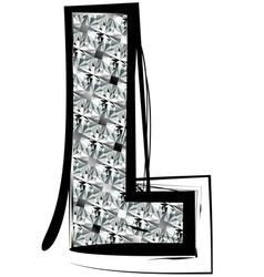 Diamond Font letter L vector image vector image
