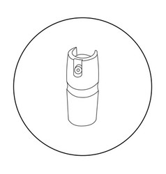 Gas canister icon outline single weapon icon from vector