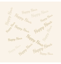 Happy hour background vector