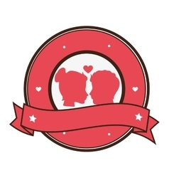 happy valentines day card vector image
