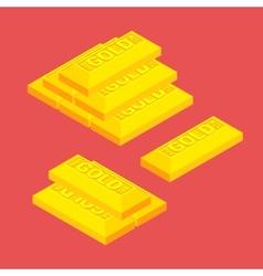 Isometric golden bars vector