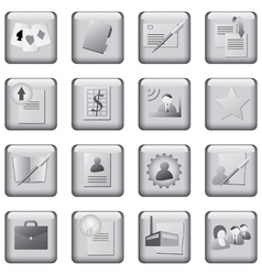 monochrome icons set vector image vector image