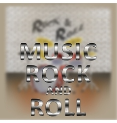 music rock and roll vector image