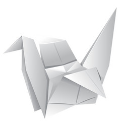 Origami art with paper bird vector