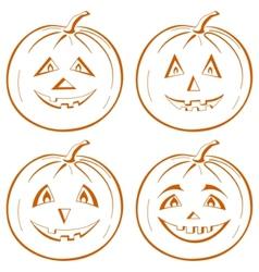 pumpkin jack o lantern vector image vector image