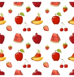 Red fruits seamless pattern over white background vector