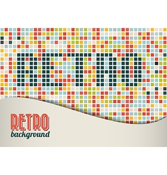 retro background template vector image