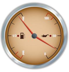Retro fuel and oil gauge icon vector image vector image
