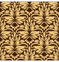 Seamless arabesque pattern in brown and beige vector