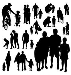set of family vector image