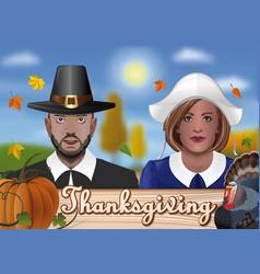 Thanksgiving greeting card design vector