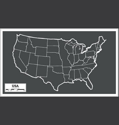 Usa city map in retro style outline map vector