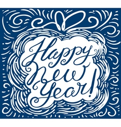 Happy new year calligraphic lettering vector